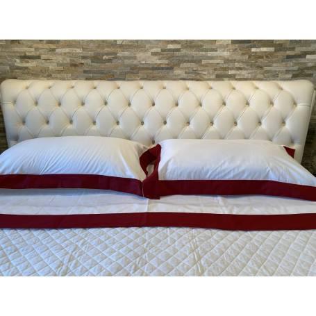 Misure Lenzuola Matrimoniali Standard.Completo Lenzuolo Matrimoniale Balza Raso Colore Bordeaux